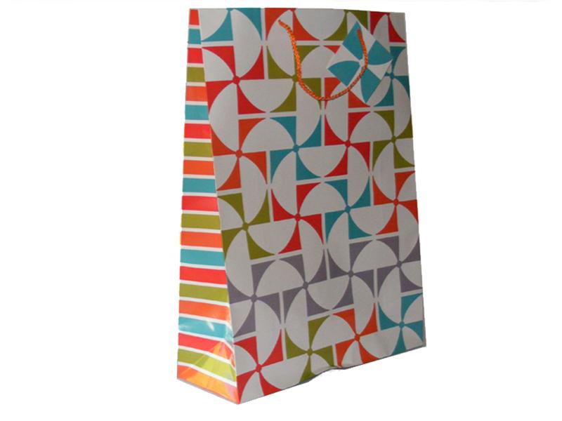 pinwheel print gift bag